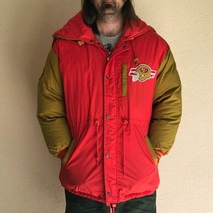 Vintage 1980s Official NFL 49ers Puffy Jacket
